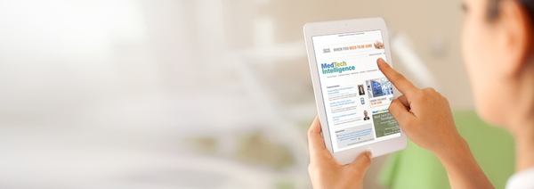 Matching weekly HTML newsletter templates complete the MedTechIntelligence experience